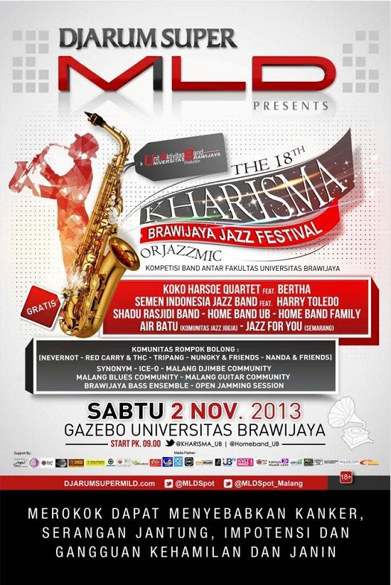 The 18th Kharisma, Brawijaya Jazz Festival Malang