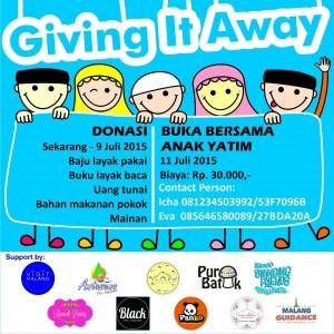 Giving it Away 2015 Malang Guidance