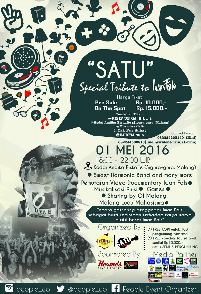 """SATU"" Special Tribute to Iwan Fals"