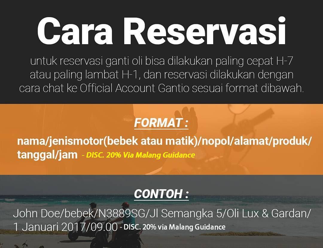 Gantio - Ganti oli online tidar, suhat, dinoyo - Kota Malang
