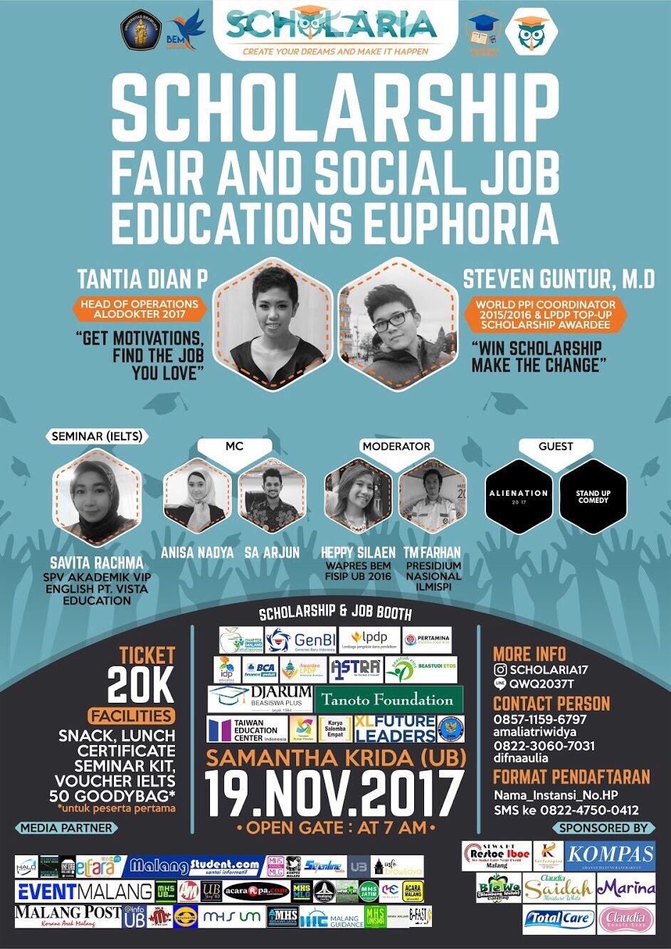 SCHOLARIA 2017 – Scholarship Fair and Social Job Educations Euphoria