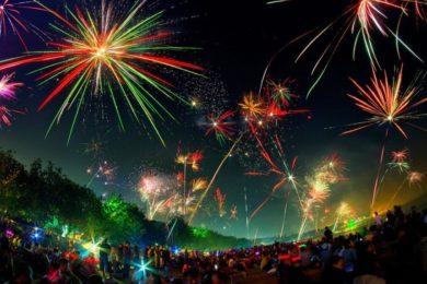 Acara tahun baru di Malang