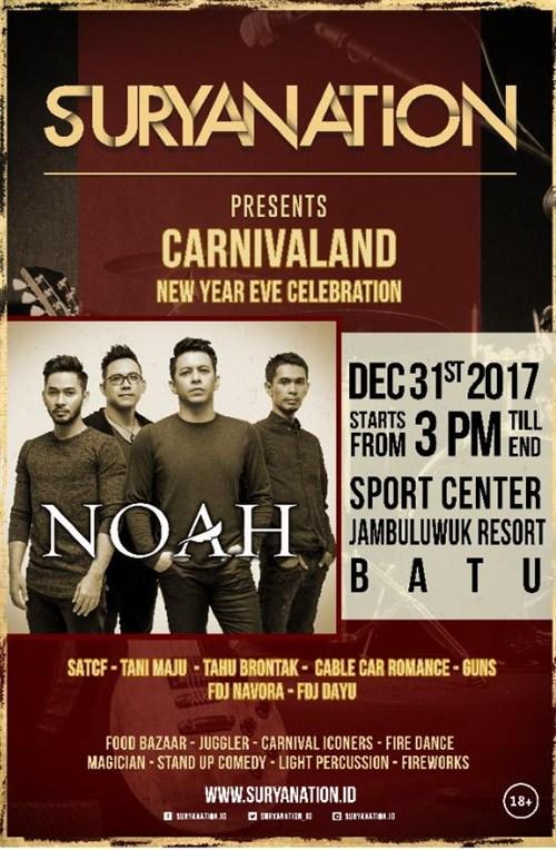 Noah di Malang Acara Tahun Baru