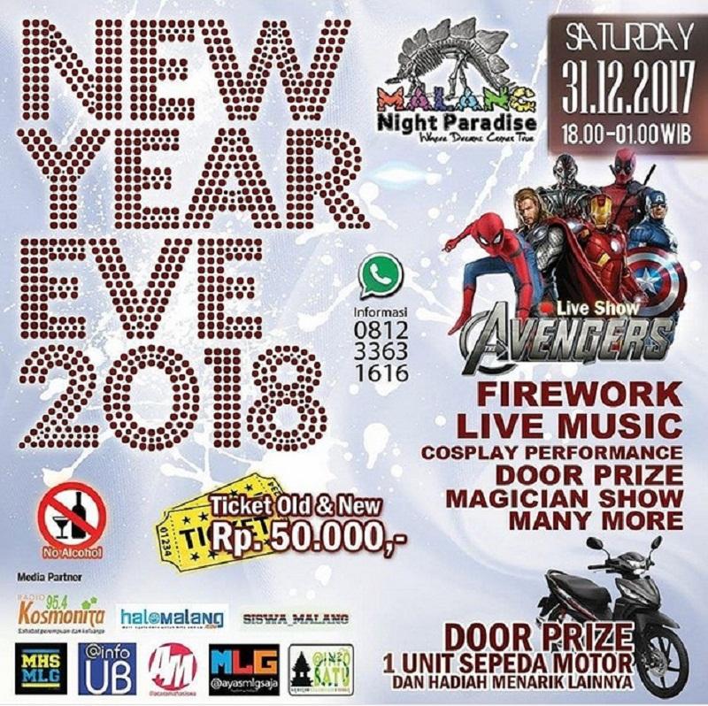 Event tahun baru Malang Night Paradise