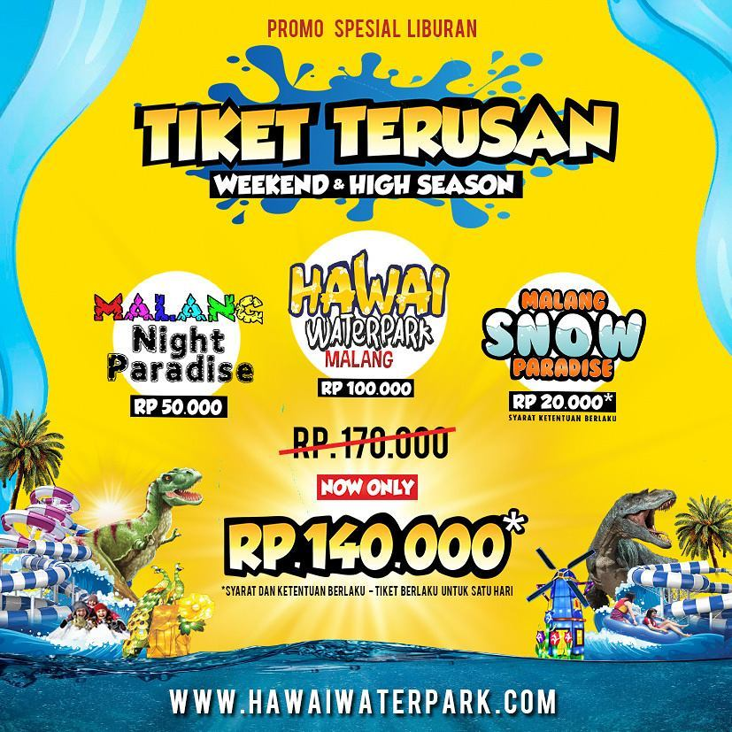 Malang Night Paradise Hawai Waterpark