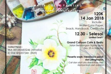 Event Grand Canyon Cafe Malang 2018 Workshop Watercolor
