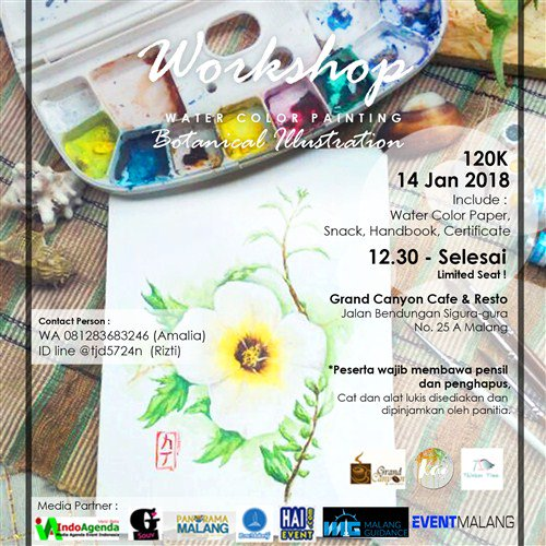 "Workshop Watercolor ""Botanical Illustration"""