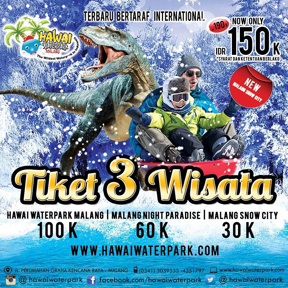 Wisata Salju Hawai Waterpark Malang Guidance